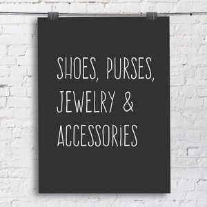 Shoes, jewelry, accessories, & shoes